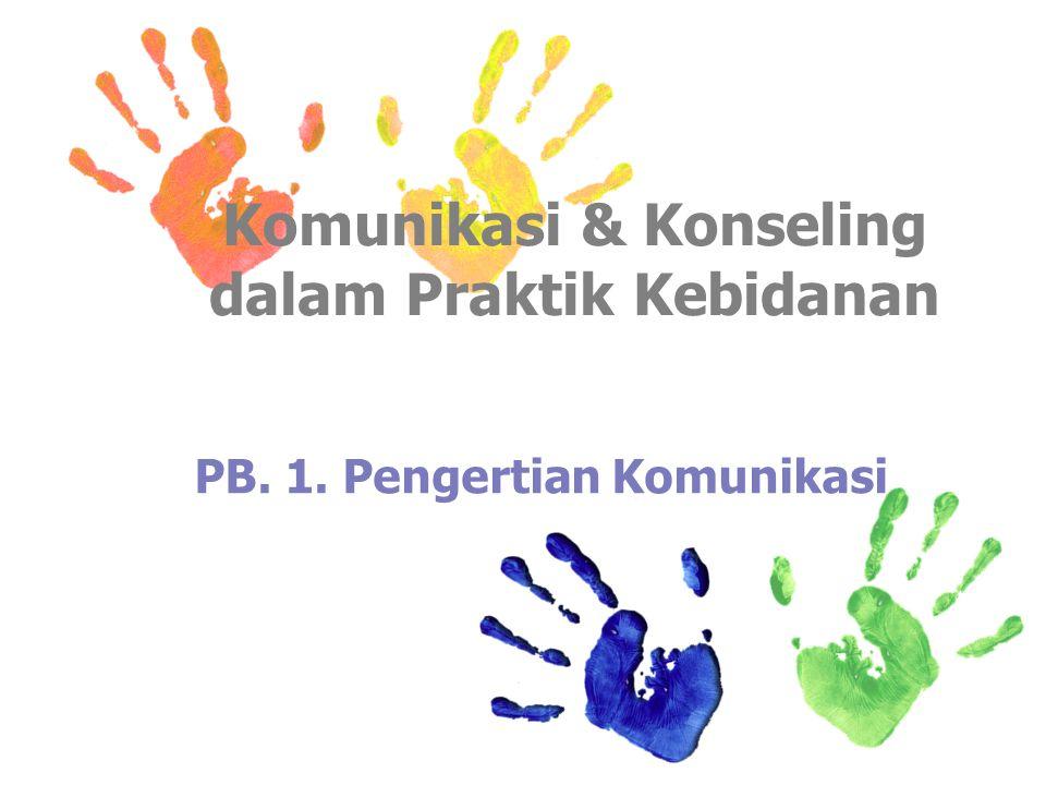 Komunikasi & Konseling dalam Praktik Kebidanan PB. 1. Pengertian Komunikasi