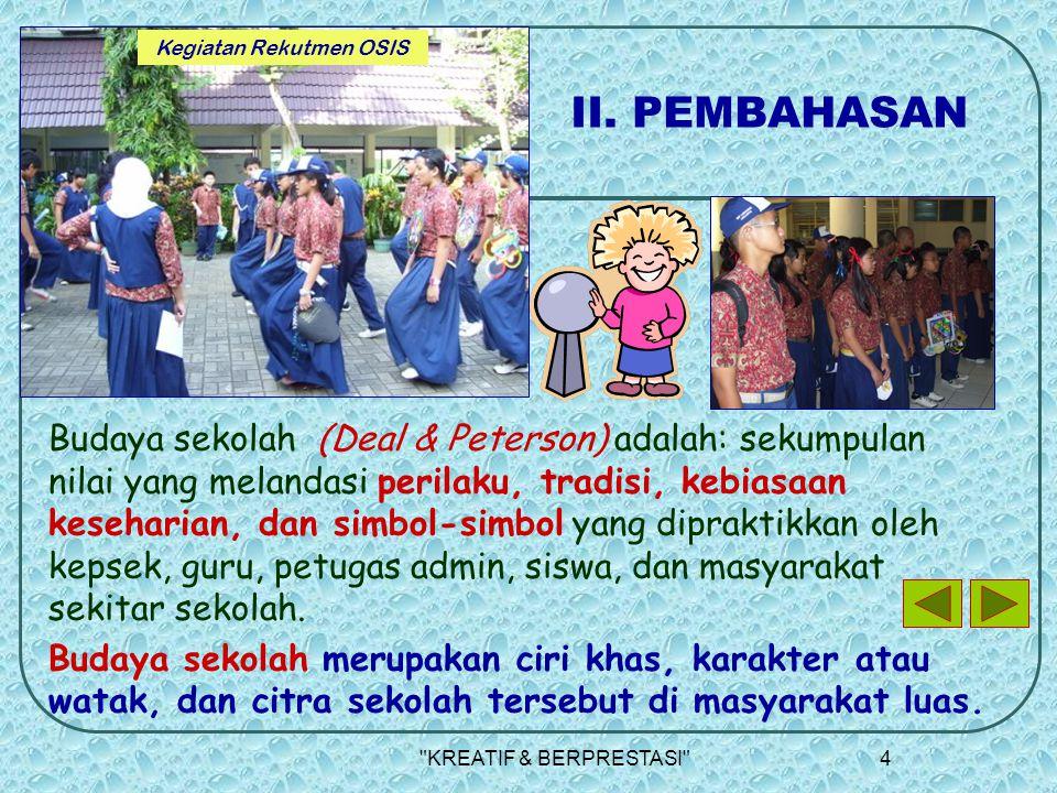 KREATIF & BERPRESTASI 4 II.