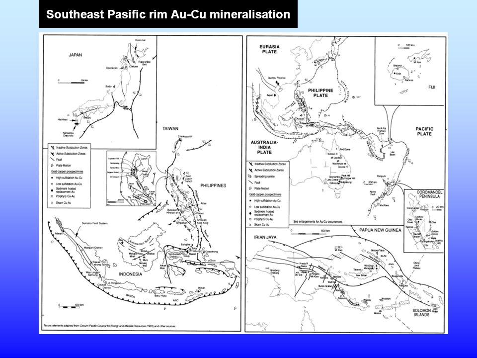 Southeast Pasific rim Au-Cu mineralisation