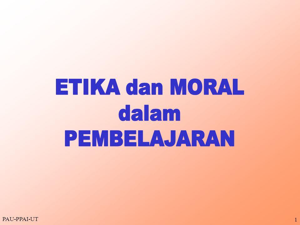 2 Tujuan Instruksional Umum Menjelaskan cara menyikapi penerapan etika dan moral dalam pembelajaran di perguruan tinggi Tujuan Instruksional Khusus Menjelaskan pengertian etika dan moral dalam pembelajaran Menjelaskan alasan penerapan etika dan moral dalam pembelajaran