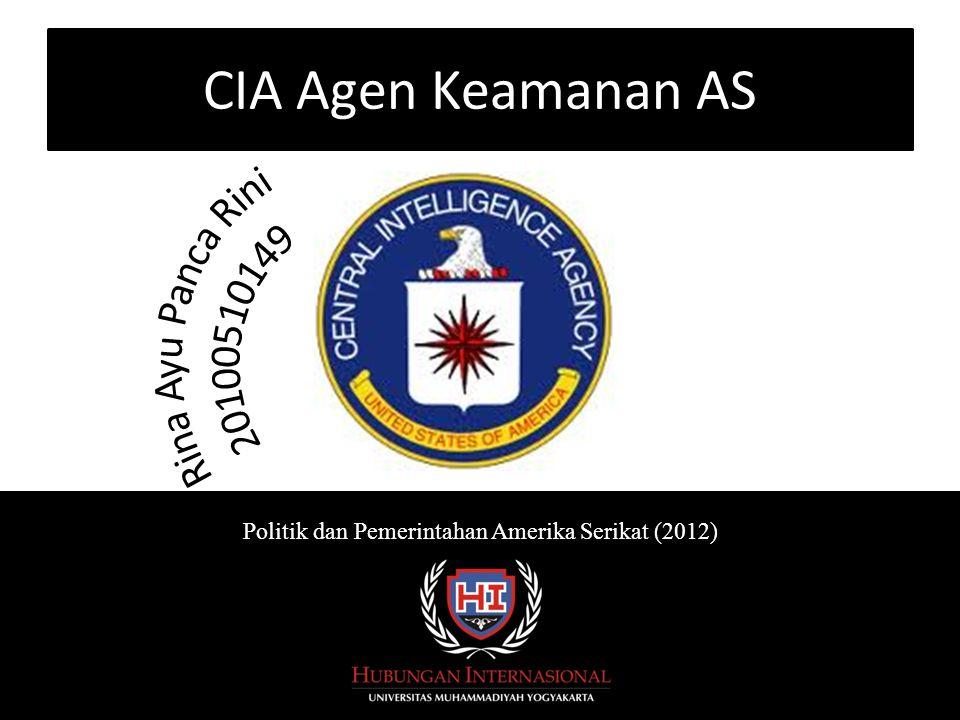 CIA Agen Keamanan AS Politik dan Pemerintahan Amerika Serikat (2012)