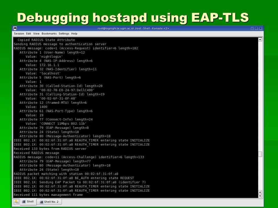 Debugging hostapd using EAP-TLS