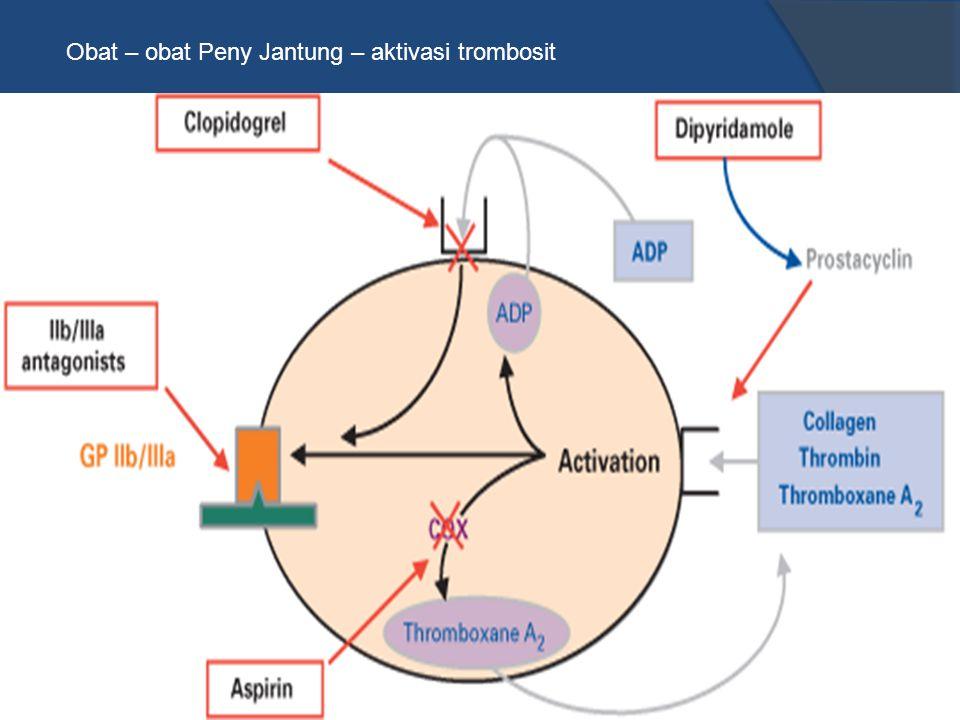 Obat – obat Peny Jantung – aktivasi trombosit