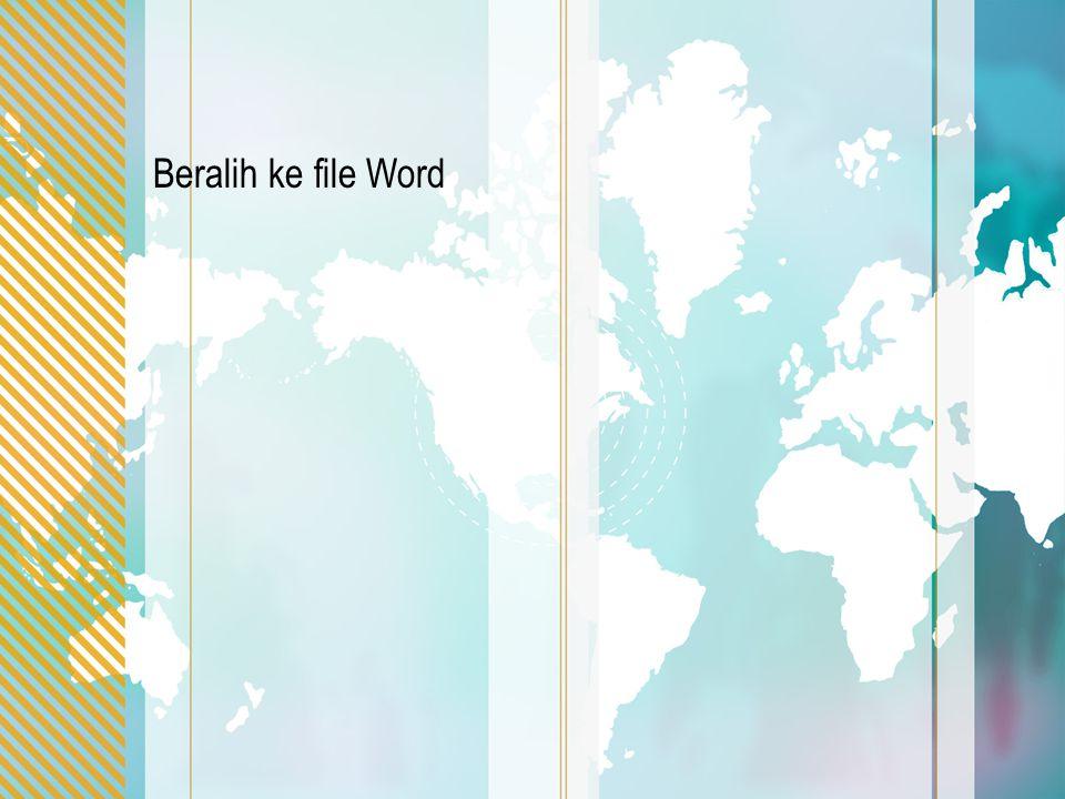 Beralih ke file Word
