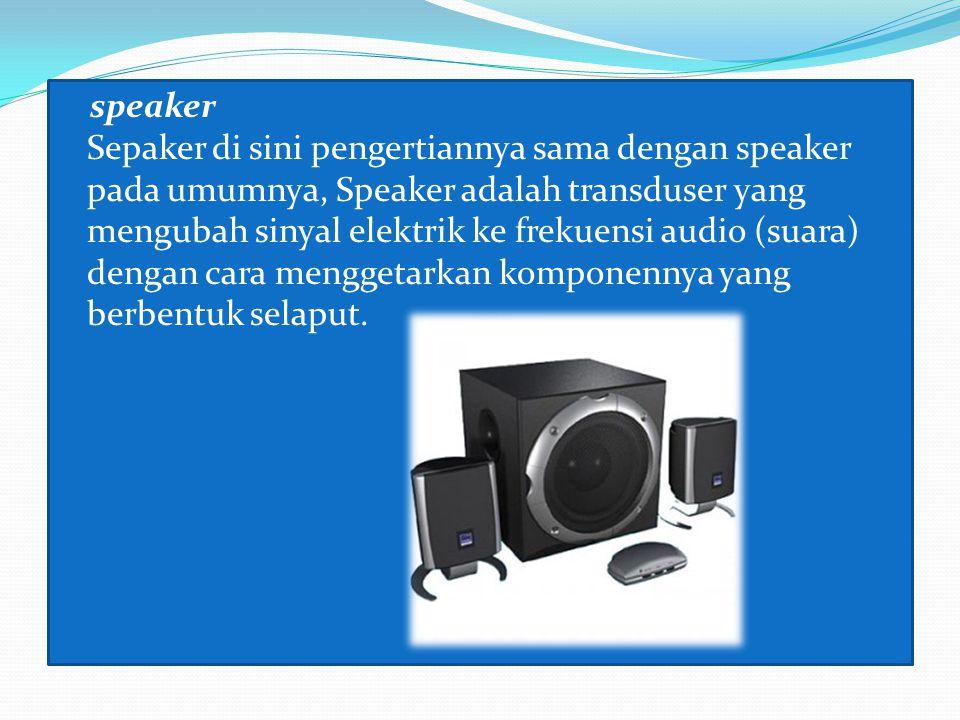 3. Output device ( Unit keluaran ) Monitor monitor komputer adalah salah satu jenis soft-copy device, karena keluarannya adalah berupa signal elektron