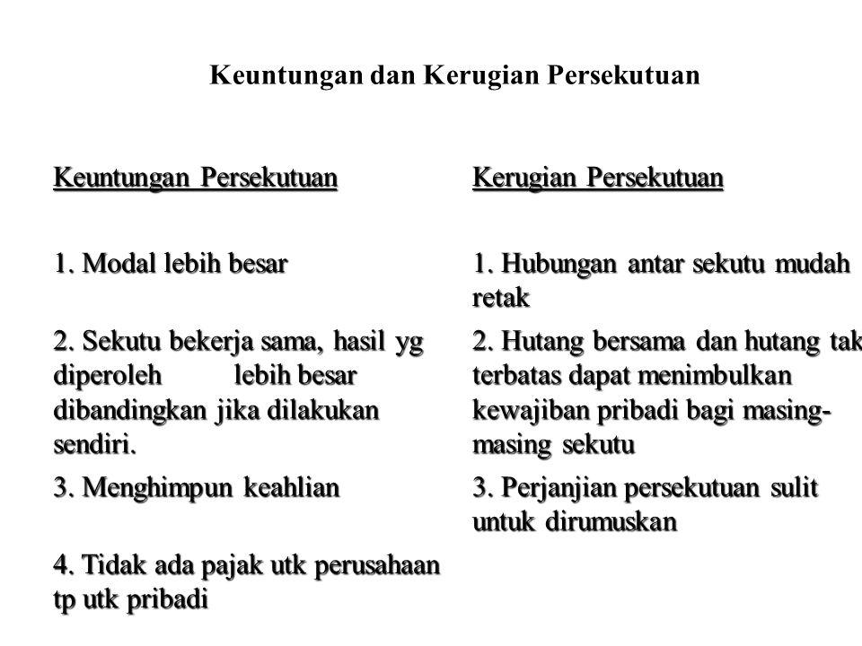 Ad.4.PERUBAHAN BENTUK PERSEKUTUAN MENJADI PERSEROAN.