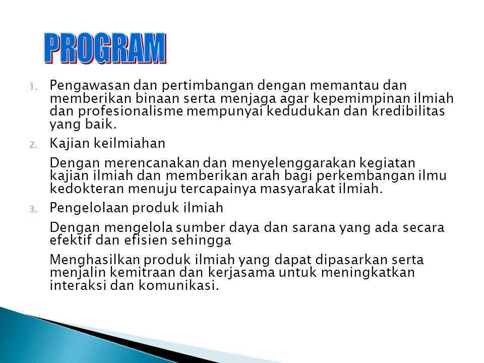 4.Kursus-kursus ilmiah :  Biomolekuler  Imunologi  Pembuatan Proposal 5.
