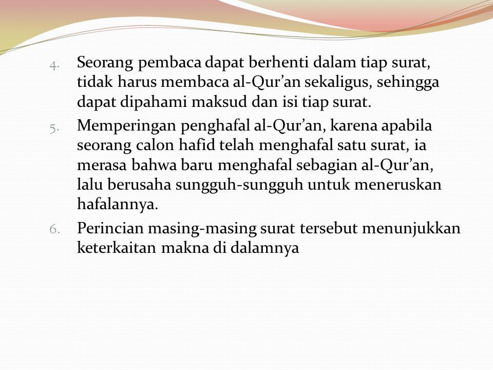 Nama-Nama Surah  Nama-nama surah di dalam al-Qur'an sebagian besarnya ditentukan oleh Nabi sendiri. Meskipun tidak semuanya terekam dalam periwayatan