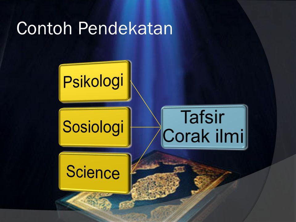 Pendekatan Tafsir  Para ulama memandang al-Qur'an itu multidimensi seperti permata, maksudnya dapat dipahami dari berbagai segi, dan setiap pemahaman