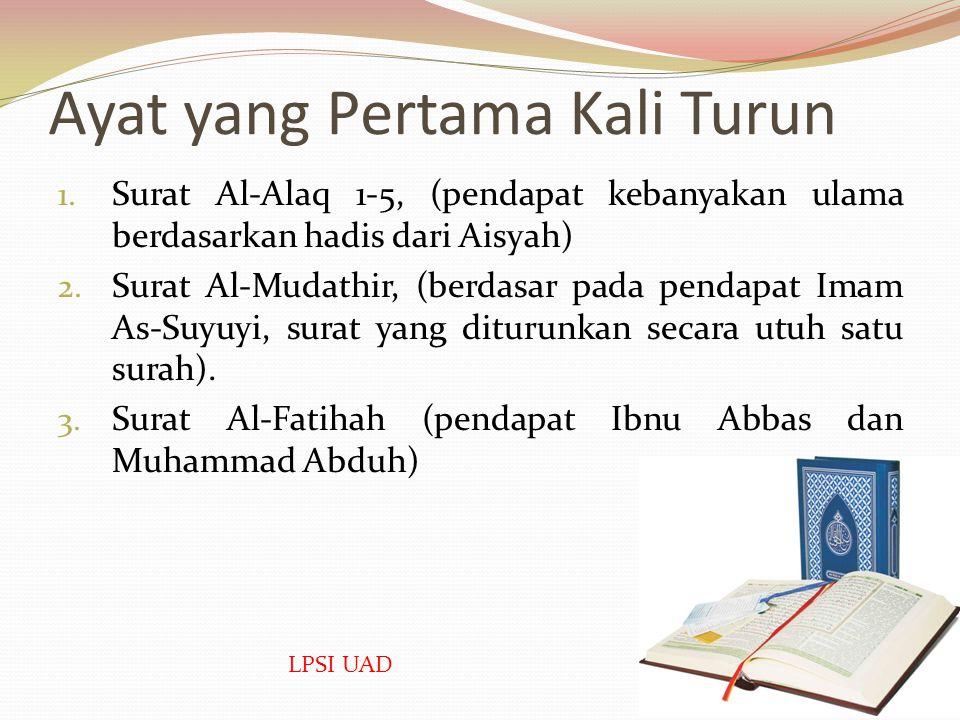 Kandungan Al-Qur'an Pengertian Ayat  Pada dasarnya isi al-Qur'an terdiri dari ayat-ayat. Ayat ialah susunan kata dan kalimat al-Qur`an yang membentuk