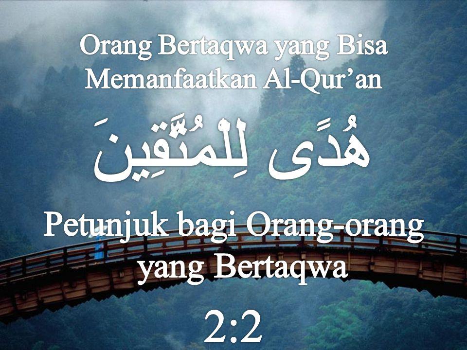  Al-Qur'an turun di Masyarakat Arab Jahiliyah yang berada dalam kesesatan yang parah  Al-Qur'an menyebutkan meraka: GENERASI YANG MATI (6:122) lalu Allah berikan RUH (AL-QUR'AN) yang menghidupkan (42:52)