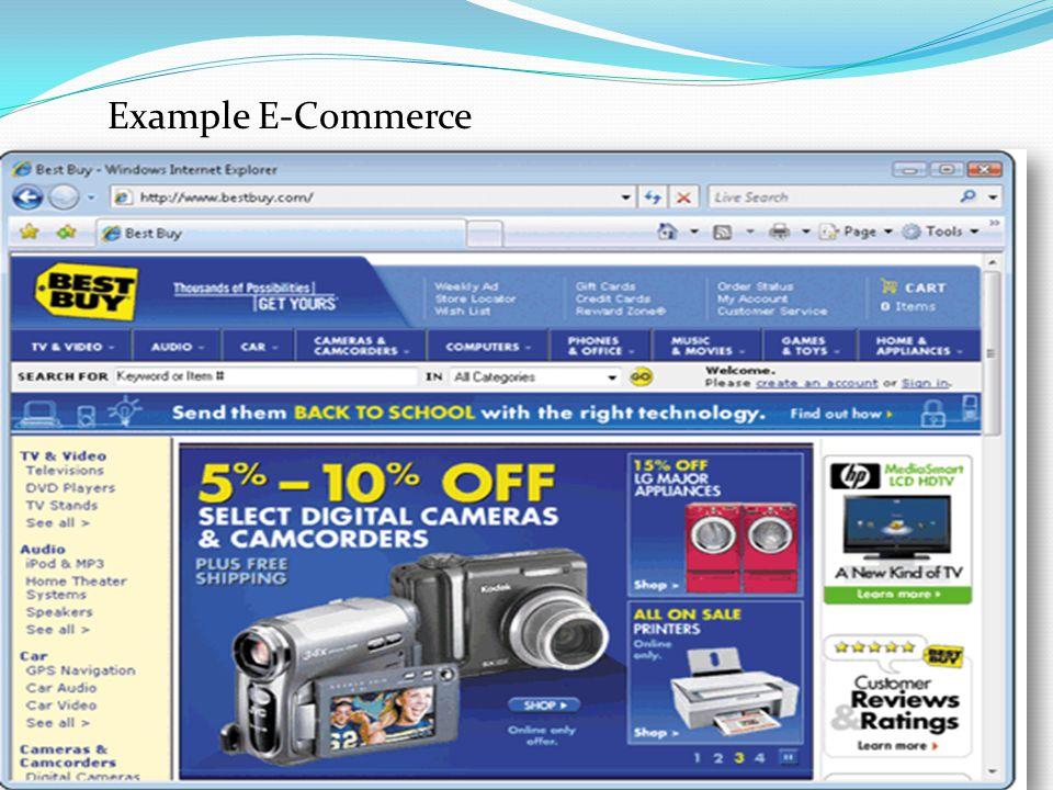 Example E-Commerce Web application