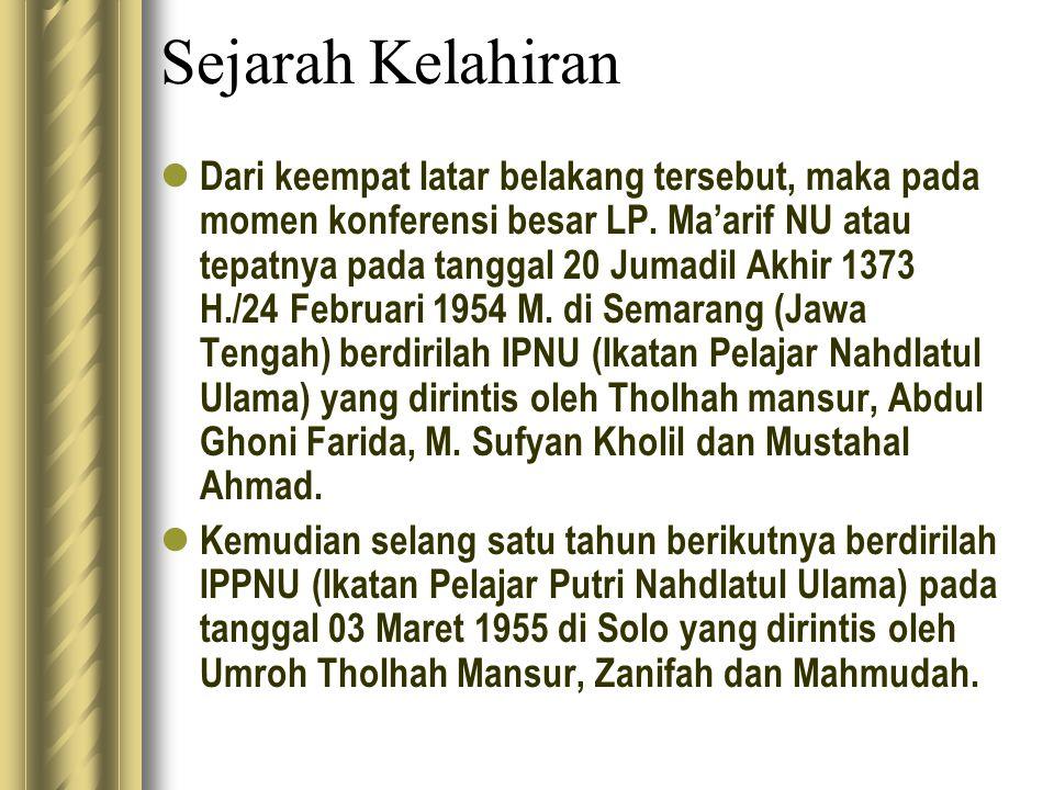Sejak berdirinya sampai tahun 1966, IPNU- IPPNU menjadi bagian dari LP.