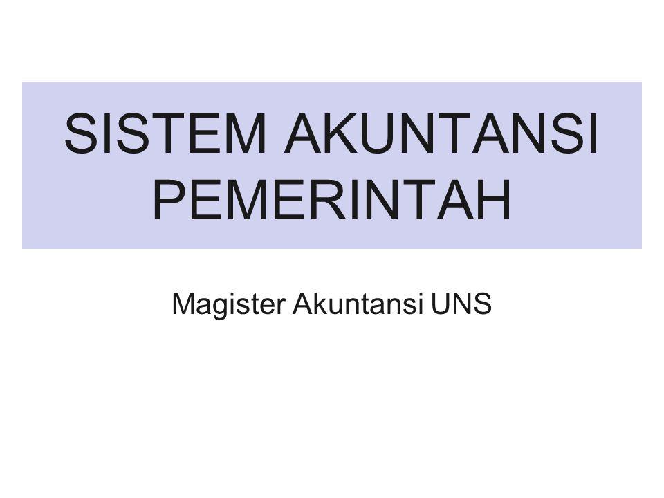 SISTEM AKUNTANSI PEMERINTAH Magister Akuntansi UNS