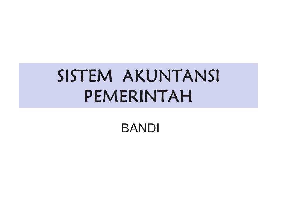 SISTEM AKUNTANSI PEMERINTAH BANDI