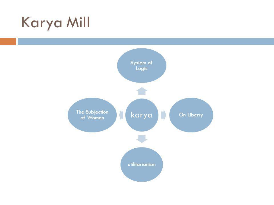 Karya Mill karya System of Logic On Libertyutilitarianism The Subjection of Women