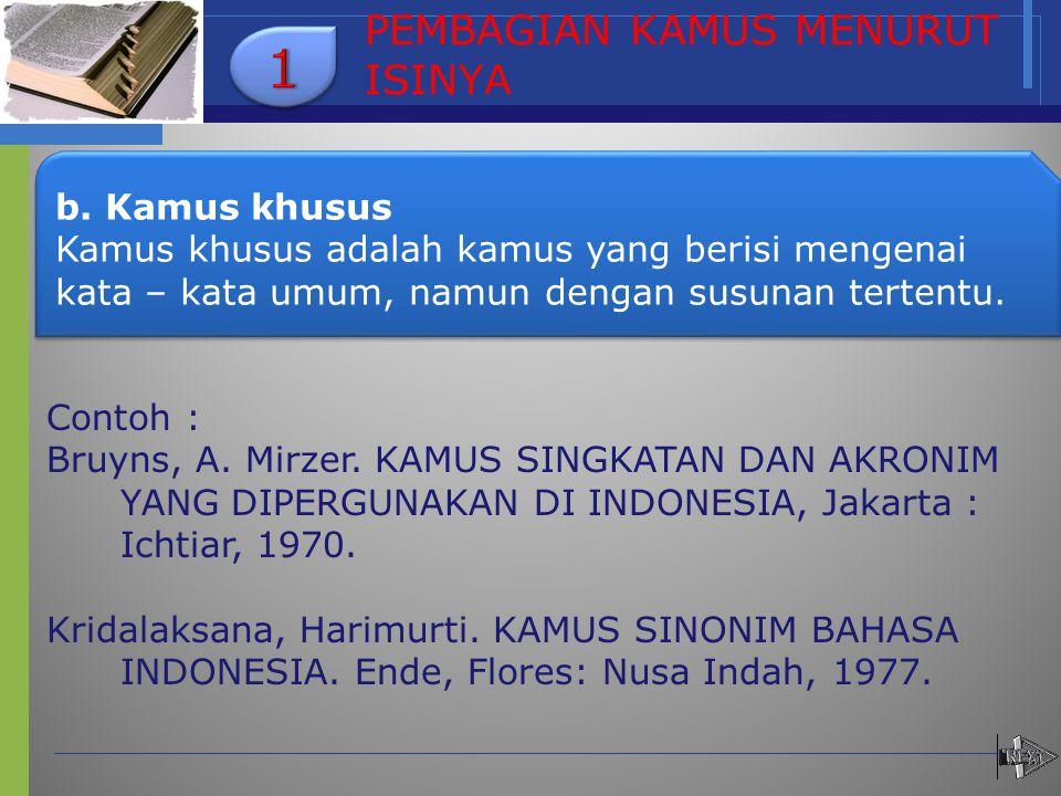 c.Kamus sub c.