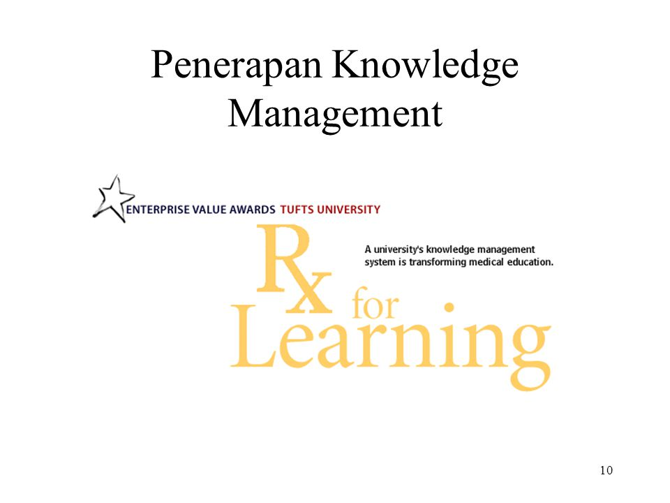 10 Penerapan Knowledge Management