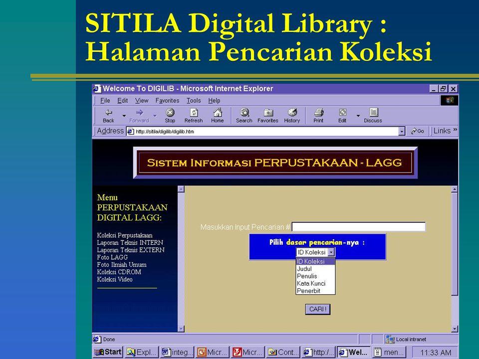 SITILA Digital Library : Halaman Pencarian Koleksi