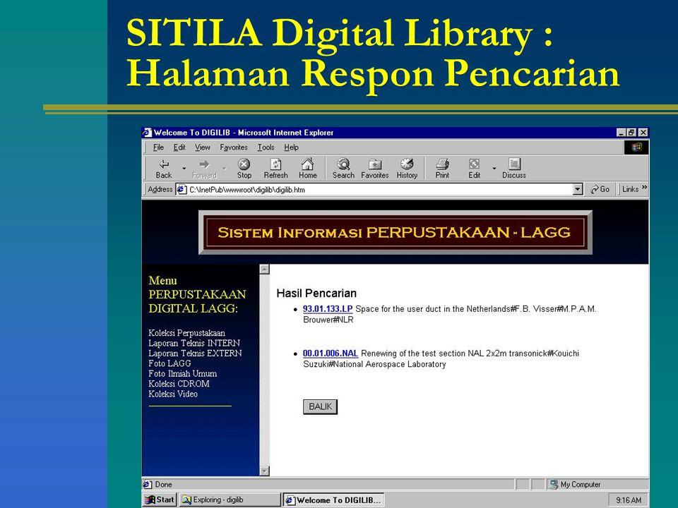 SITILA Digital Library : Halaman Respon Pencarian