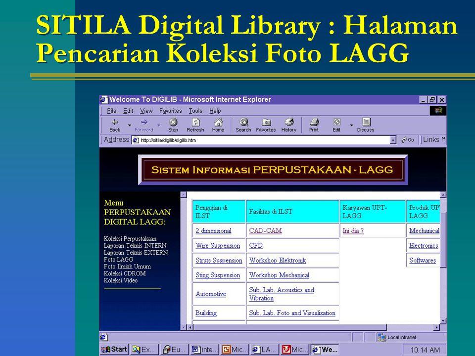 SITILA Digital Library : Halaman Pencarian Koleksi Foto LAGG