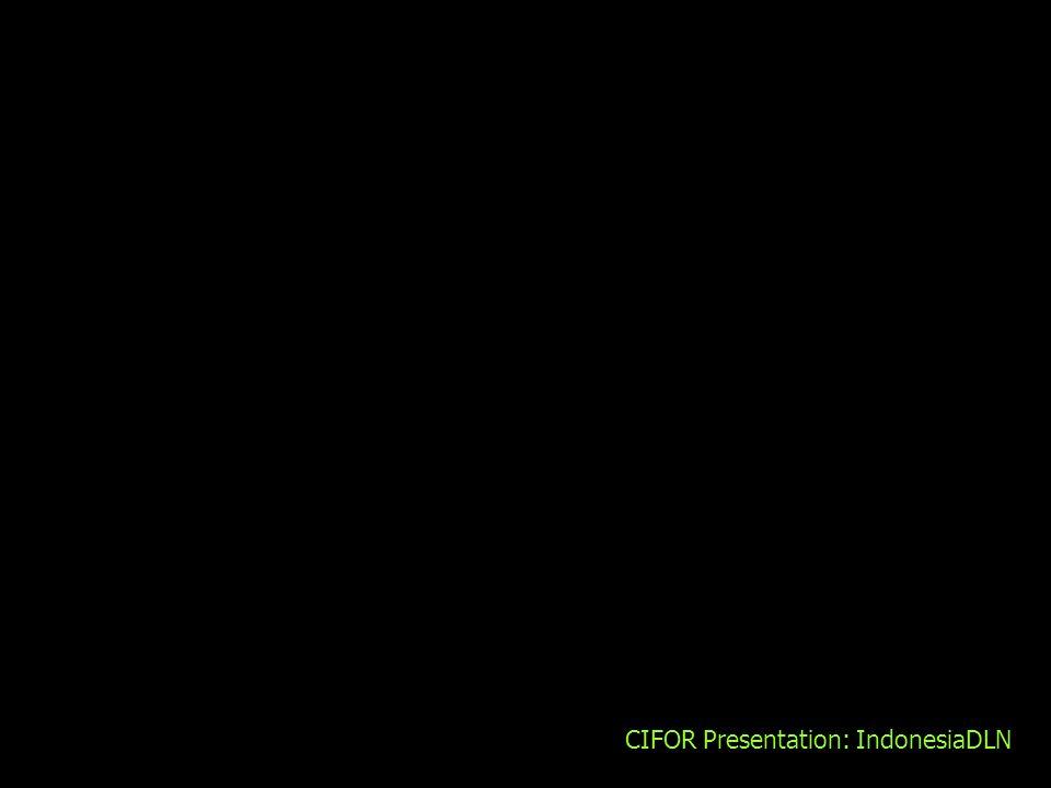 CIFOR Presentation: IndonesiaDLN