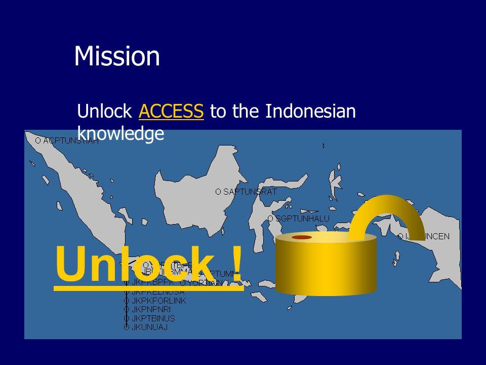 IndonesiaDLN The Indonesian Digital Library Network Misi: Membuka akses terhadap ilmu pengetahuan bangsa Indonesia. Model: Komunitas praktis (communit