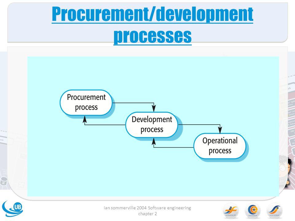 Procurement/development processes ian sommerville 2004 Software engineering chapter 2