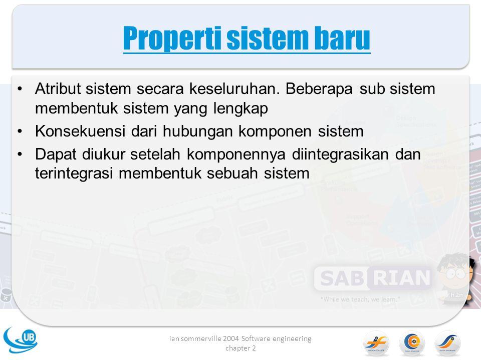 Contoh properti sistem baru ian sommerville 2004 Software engineering chapter 2