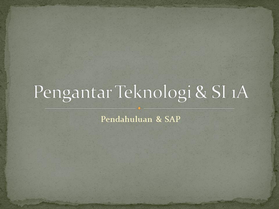 Pendahuluan & SAP