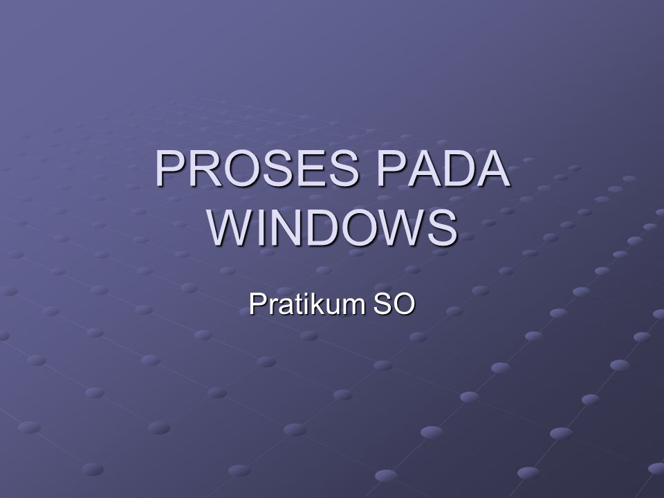 Viewing Process Information with Task Manager