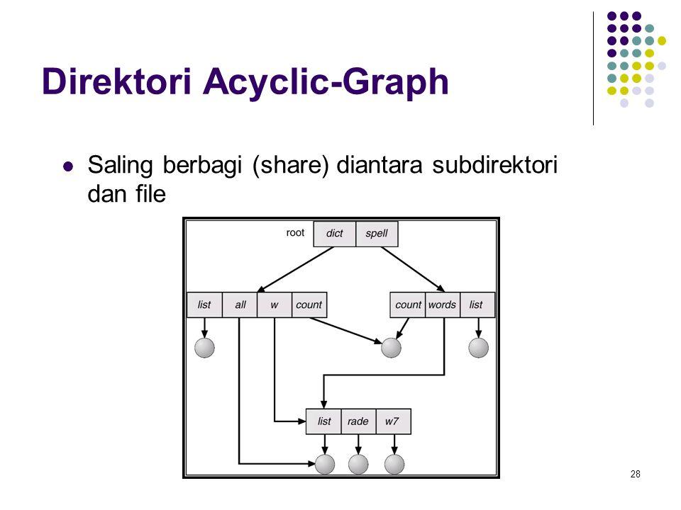 28 Direktori Acyclic-Graph Saling berbagi (share) diantara subdirektori dan file