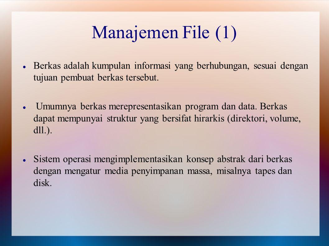 Berkas adalah kumpulan informasi yang berhubungan, sesuai dengan tujuan pembuat berkas tersebut. Umumnya berkas merepresentasikan program dan data. Be