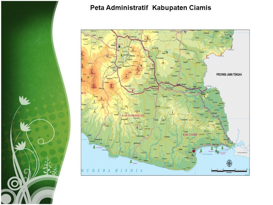Peta Administratif Kabupaten Ciamis
