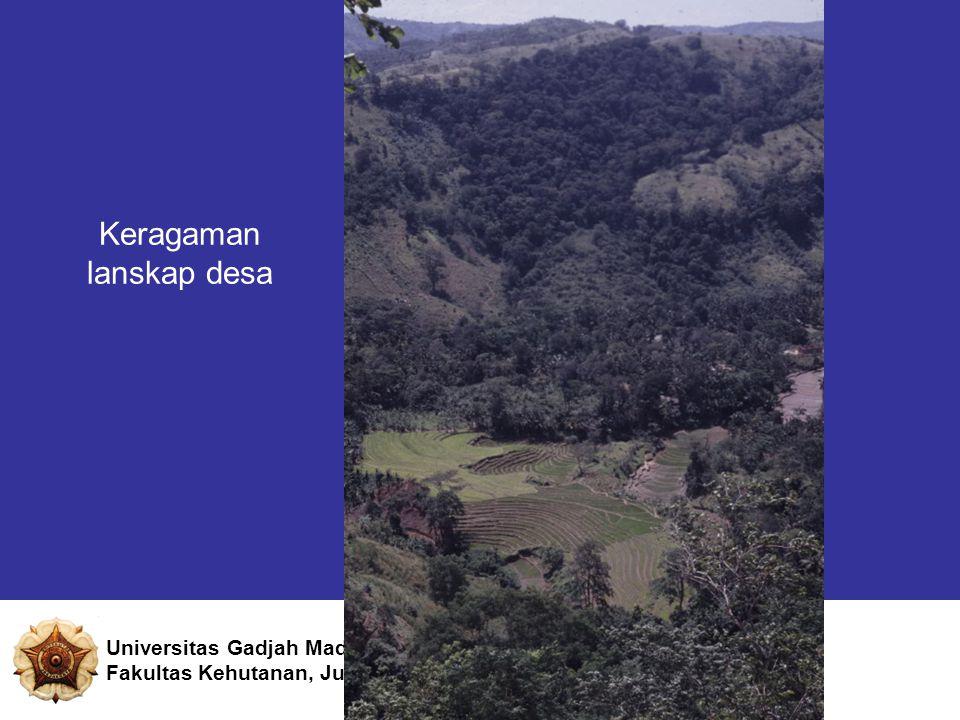 Keragaman lanskap desa Universitas Gadjah Mada Fakultas Kehutanan, Jurusan Manajemen Hutan