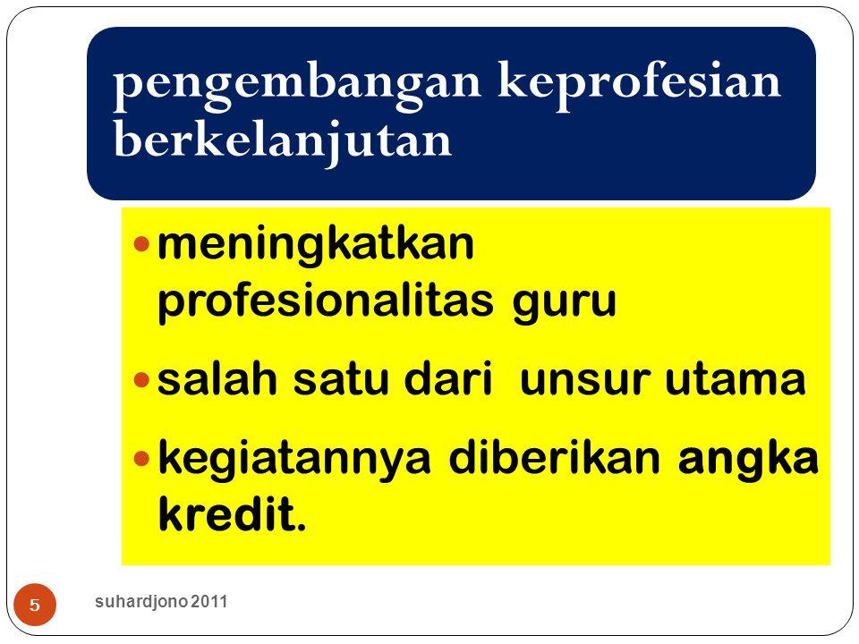 6 memperbanyak guru yang makin profesional Tujuan suhardjono 2011
