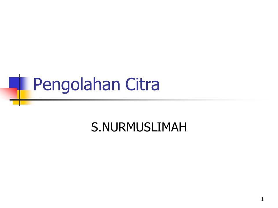 1 Pengolahan Citra S.NURMUSLIMAH