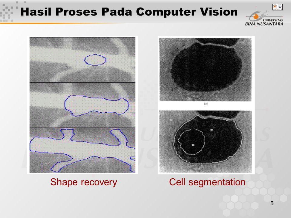 5 Shape recoveryCell segmentation Hasil Proses Pada Computer Vision