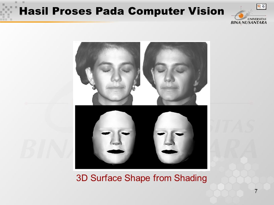 7 3D Surface Shape from Shading Hasil Proses Pada Computer Vision