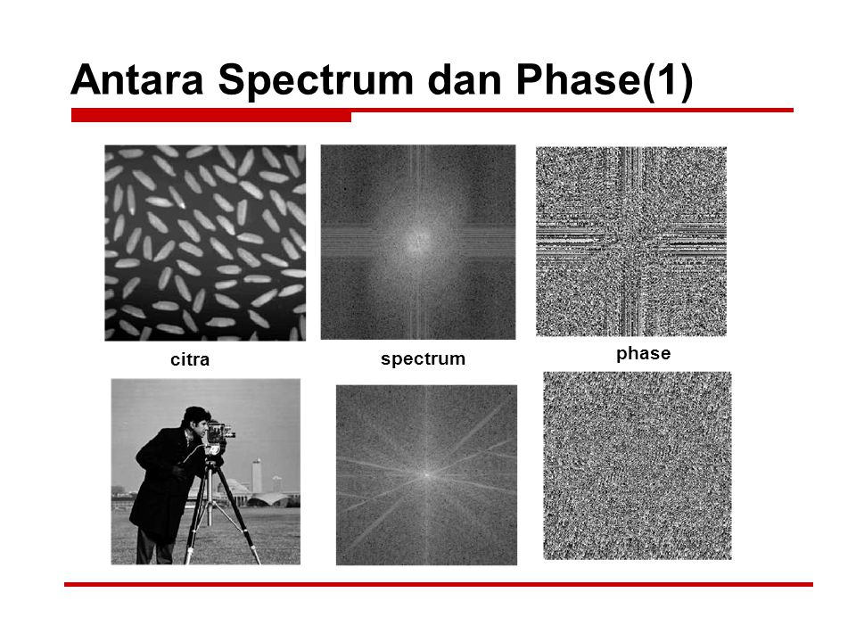 Antara Spectrum dan Phase(1) citra spectrum phase