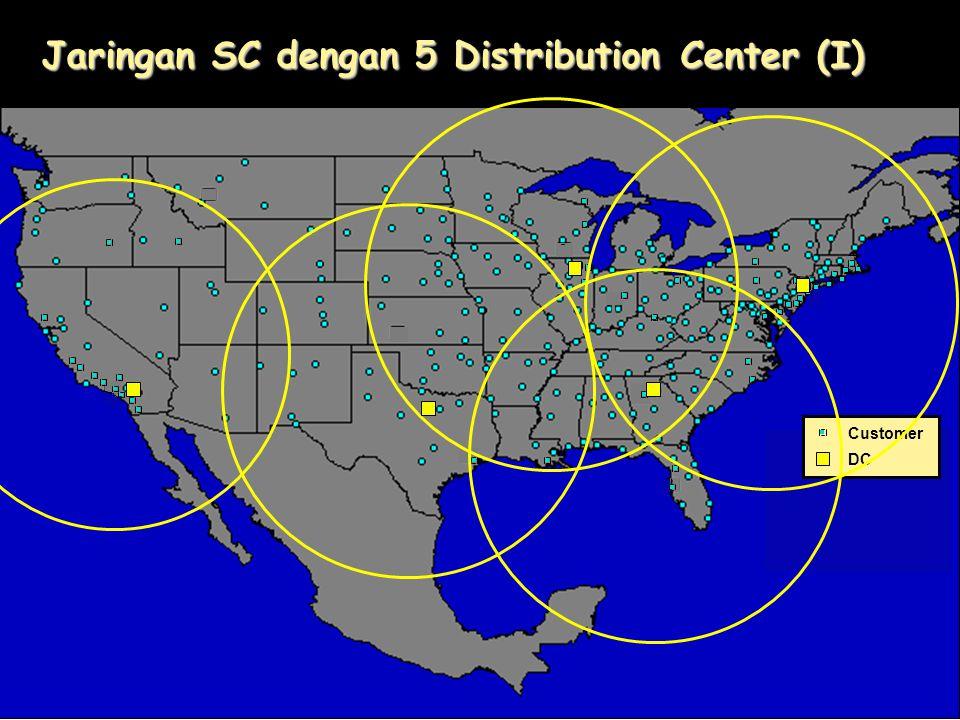 Customer DC Jaringan SC dengan 5 Distribution Center (I)