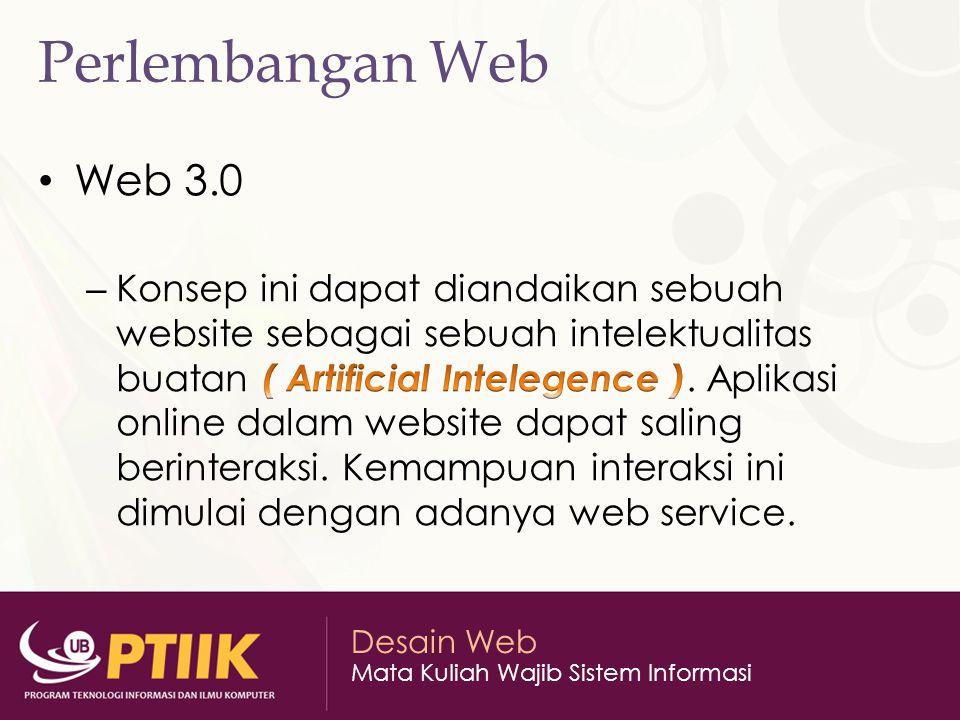 Desain Web Mata Kuliah Wajib Sistem Informasi Perlembangan Web