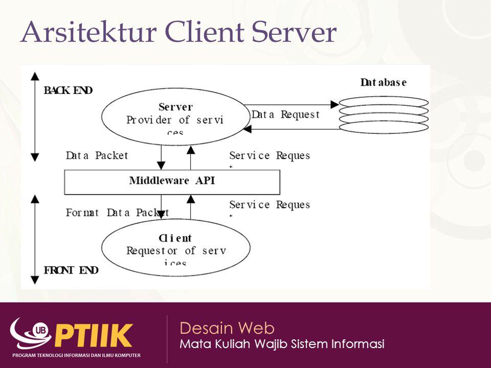 Desain Web Mata Kuliah Wajib Sistem Informasi Arsitektur Client Server