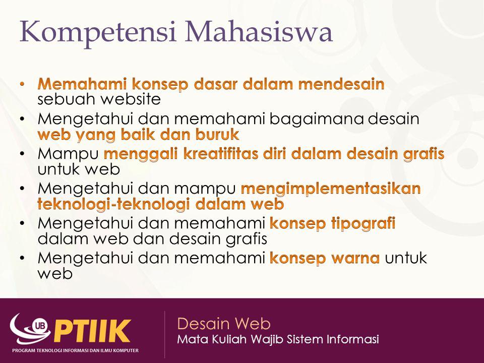 Desain Web Mata Kuliah Wajib Sistem Informasi Website Website Statis Website Dinamis Website Interaktif