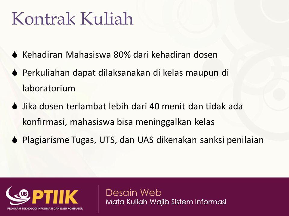 Desain Web Mata Kuliah Wajib Sistem Informasi Internet