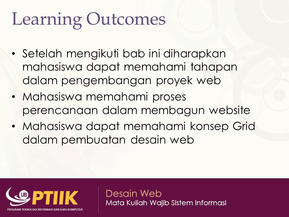 Desain Web Mata Kuliah Wajib Sistem Informasi Different Phases of a Web Project 1.