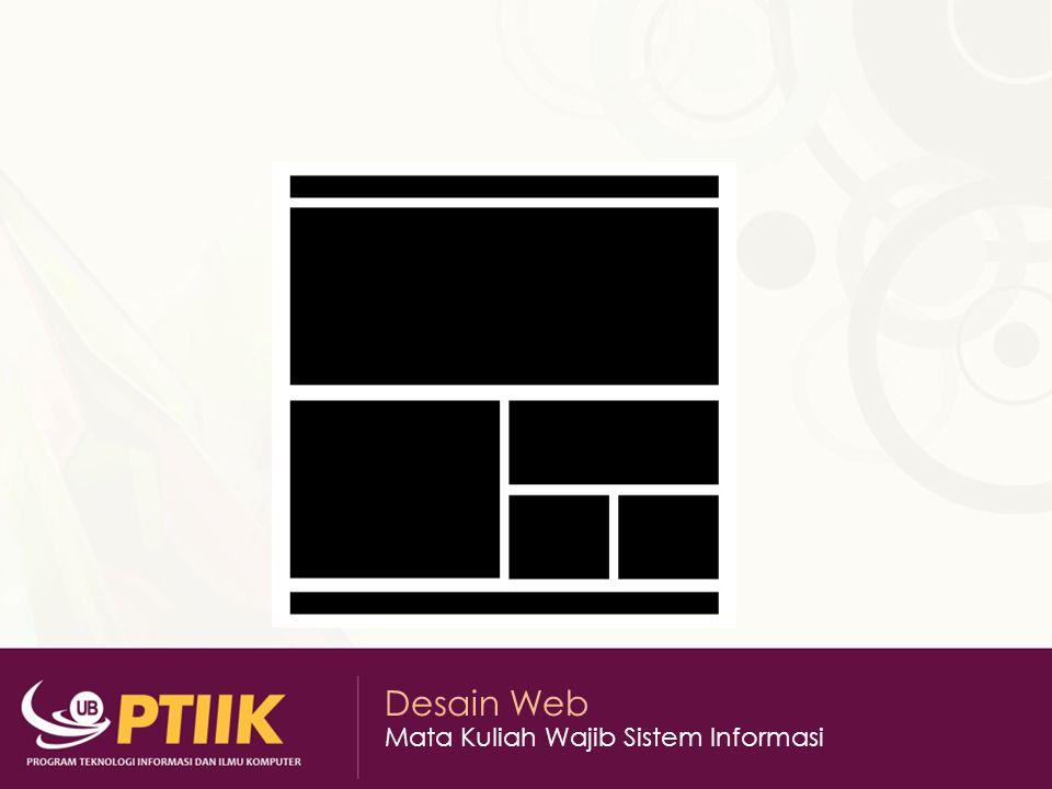 Desain Web Mata Kuliah Wajib Sistem Informasi