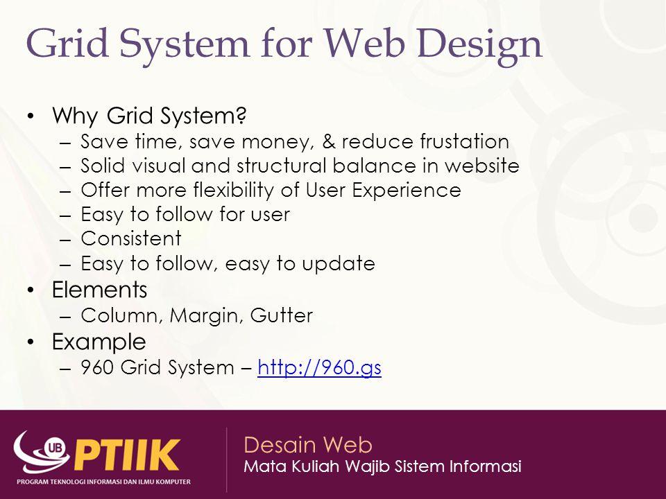 Desain Web Mata Kuliah Wajib Sistem Informasi Grid Example