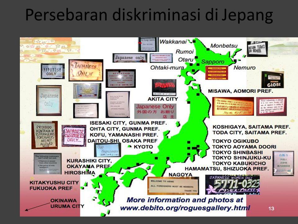 Persebaran diskriminasi di Jepang