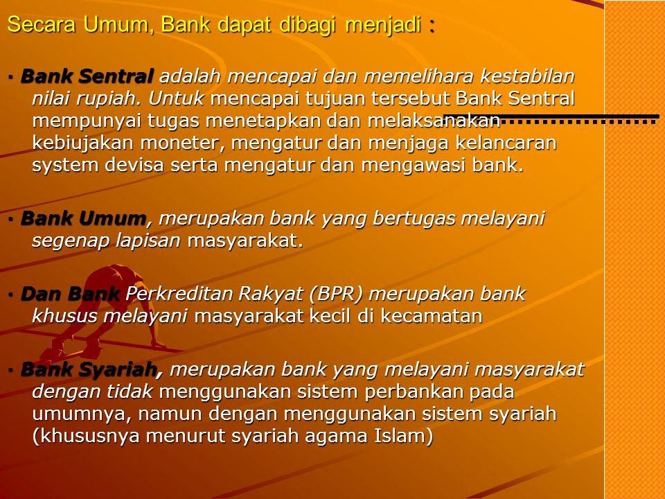 Sumber-sumber Dana Bank 1. Dana dari Modal Sendiri (Dana Pihak ke-I) · Modal yang disetor · Cadangan-cadangan · Laba yang ditahan 2. Dana Pinjaman dar